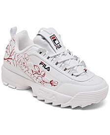 Big Girls Disruptor II Floral Embroidered Casual Sneakers from Finish Line
