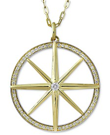 "Diamond Star & Circle 36"" Pendant Necklace (1/2 ct. t.w.) in 10k Gold"