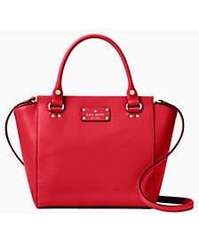Wellesley Small Camryn Leather Satchel