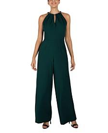 Sleeveless Hardware-Embellished Jumpsuit
