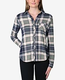 Juniors' Cozy Plaid Shirt