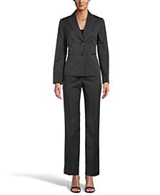Two-Button Pinstripe Pantsuit