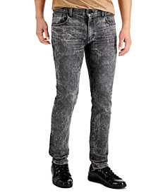 INC Men's Skinny-Fit Gray Snow Washed Jeans, Created for Macy's