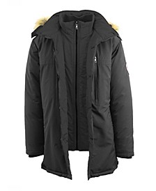 Men's Hevayweight Double Layer Hooded Long Parka Jacket
