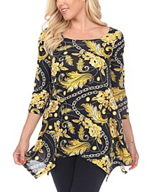 Women's Floral Chain Printed Tunic Top