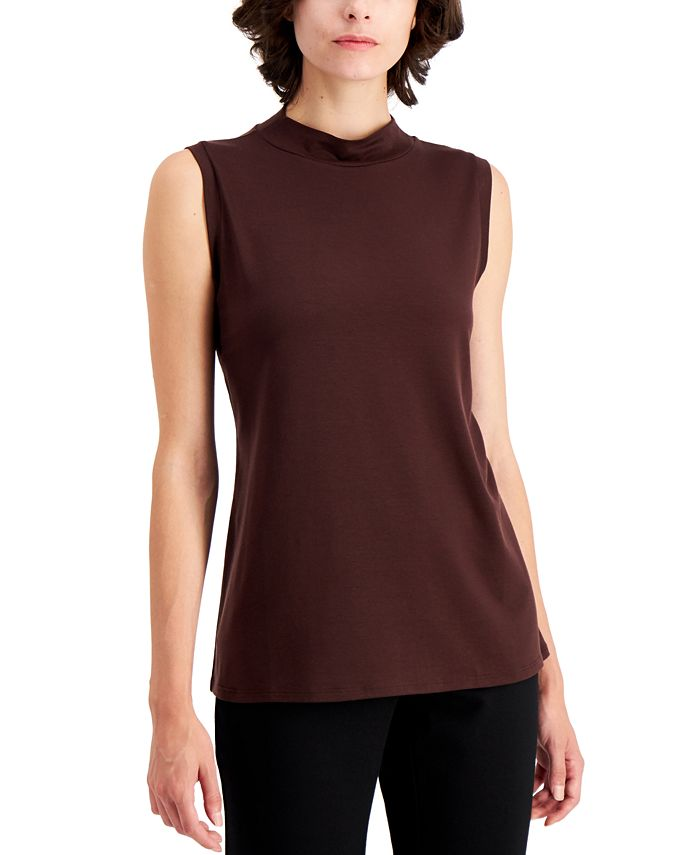 Eileen Fisher - Mock-Neck Tank Top