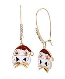 Festive Cat Dangle Earrings