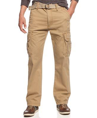 Unionbay Men's Survivor Belted Cargo Pants - Pants - Men - Macy's