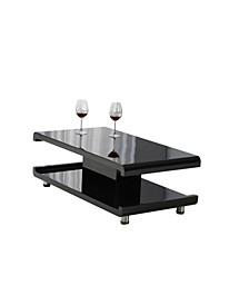 La Casa Modern Euro Coffee Table with Remote LED Light
