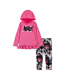 Toddler Girls Dri-Fit Hooded Tunic T-shirt and Leggings Set