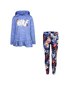 Little Girls Dri-Fit Hooded Tunic T-shirt and Leggings Set