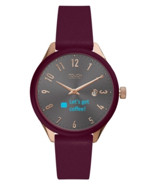 Connected Women's Hybrid Smartwatch Fitness Tracker: Rose Gold Case with Merlot Leather Strap 38mm