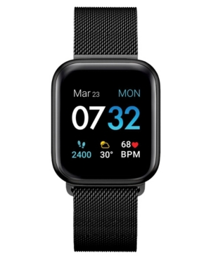 Air 3 Women's Touchscreen Smartwatch Fitness Tracker: Black Case with Black Mesh 44mm