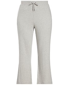 Plus-Size Cotton Wide-Leg Pants