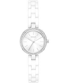 Women's City Link White Ceramic Watch 26mm