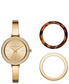 Women's Carey Gold-Tone Stainless Steel Bracelet Watch Gift Set 36mm