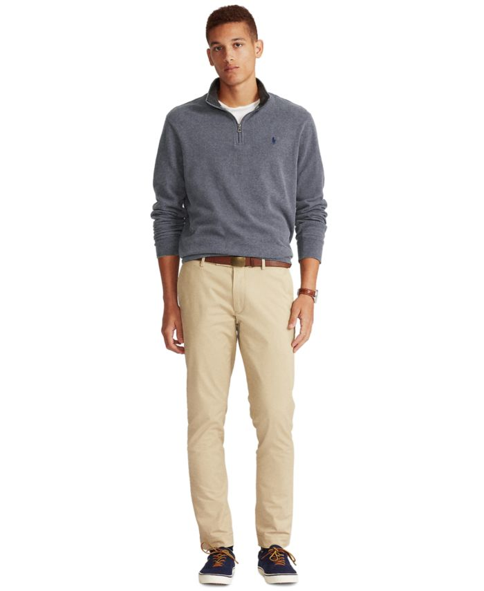 Polo Ralph Lauren Men's  Big & Tall Jersey Quarter-Zip Pullover & Reviews - Sweaters - Men - Macy's