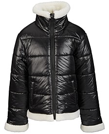 S. Rothschild & CO Big Girls Faux-Sherpa Trimmed Jacket