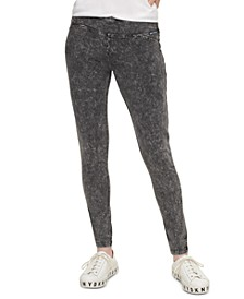 Acid-Wash Pull-On Jeans