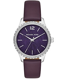Women's Layton Iris Purple Leather Watch 38mm