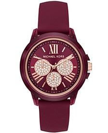 Women's Bradshaw Berry Silicone Watch 42mm