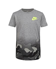 Toddler Boys Camo Print Logo T-Shirt