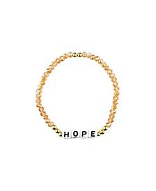 Hope 18k Gold Plated Crystal Bracelet