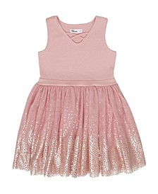 Little Girls Sleeveless Tulle Party Dress