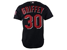 Cincinnati Reds Ken Griffey Jr. Men's Authentic Mesh Batting Practice V-Neck Jersey