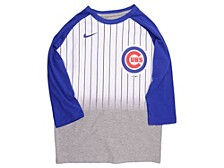 Youth Chicago Cubs 3/4-Sleeve Raglan T-Shirt