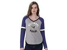 Women's Baltimore Ravens Asterisk Long-Sleeve T-Shirt