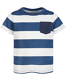 Baby Boys Rugby Striped Cotton T-Shirt, Created for Macy's