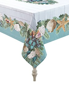 """Christmas By The Sea Tablecloth - 70"""" x 84"""""""