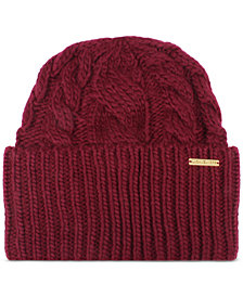 Michael Michael Kors Women's Super Cable Cuff Beanie Hat