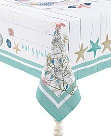"Coastal Christmas Tablecloth 70"" x 84"""