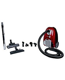 Turbo Red Canister Vacuum with HEPA Filtration