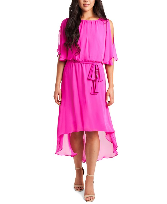 MSK - Blouson High-Low Fit & Flare Dress