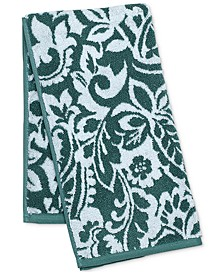 "16"" x 30"" Elite Cotton Scroll Paisley Hand Towel, Created for Macy's"