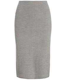 Straight Double-Knit Cotton Skirt
