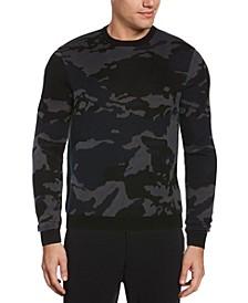 Men's Camo Long Sleeve Crew Neck Sweater