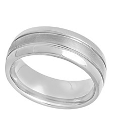 Men's Grooved Lightweight Titanium Wedding Band