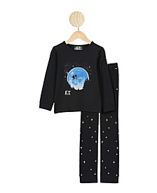 Little Boys Ethan Long Sleeve Top and Pants Pajama Set