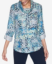 Plus Sizes Women's Animal Patchwork Pullover