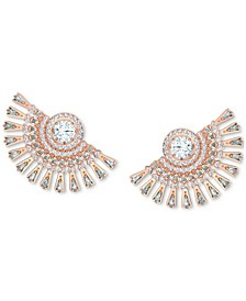 Rose Gold-Tone Crystal Statement Earrings