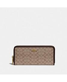 Slim Signature Accordion Zip Around Wallet Gift Box