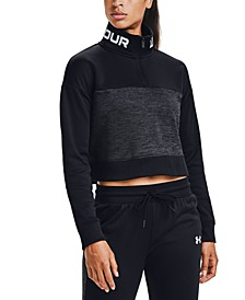 Women's Fleece Cropped Half-Zip Training Top