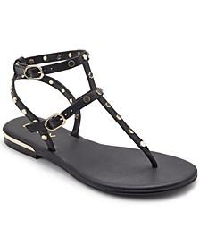 Women's Vin Studded Flat Sandals