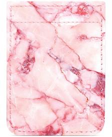 Blush Marble Print Phone Pocket