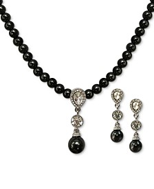 Crystal & Imitation Pearl Pendant Necklace & Drop Earrings Set, Created for Macy's