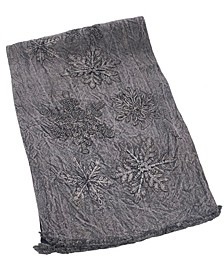 "Beaded Snowflake Distressed Table Runner, 16"" X 72"""